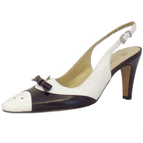 black and white shoes kaiser tarent black and white slingback