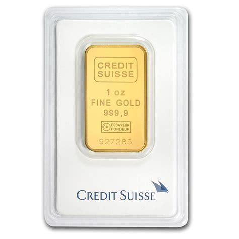 Credit Suisse 2 credit suisse 1 oz gold bar
