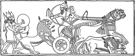 free coloring pages of assyrian