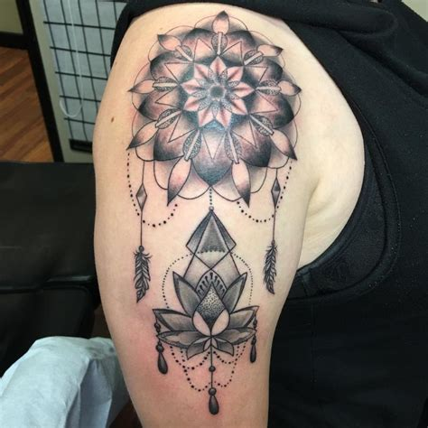 mandala tattoo artist utah mandala with lotus by pineapple tattoonow