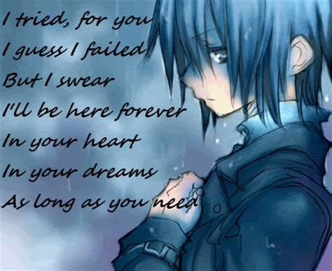 Anime Quotes Sad by Sad Anime Quotes Quotesgram