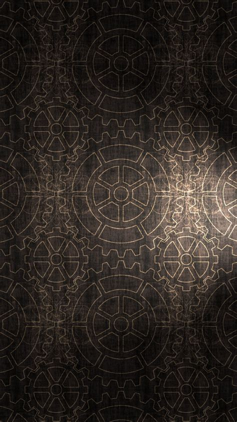 wallpaper iphone pattern vintage gear pattern wallpaper free iphone wallpapers