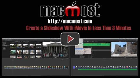 imovie slideshow templates macmost imovie