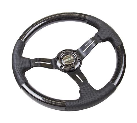 rubber st wheel nrg st 014cfsl carbon fiber series steering wheel w three