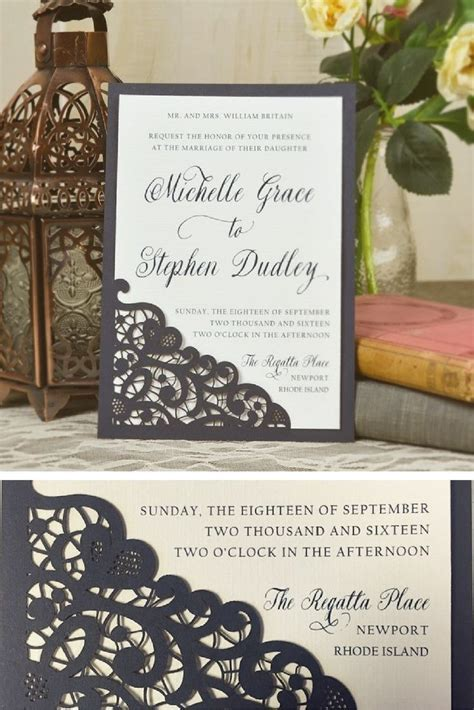 Best 25  Lace wedding invitations ideas on Pinterest