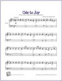 Jobs Education by Ode To Joy Beethoven Free Sheet Music For Easy Piano