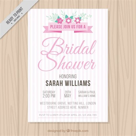 vintage inspired wedding shower invitations bridal shower invitation in vintage style vector free