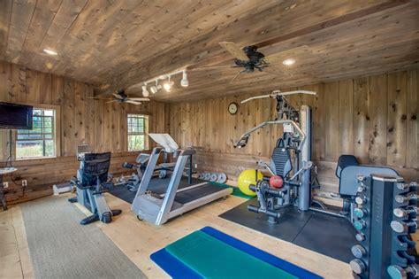clever ideas to make a home gym attractive miller hobbs unique properties mccall rustic home gym boise
