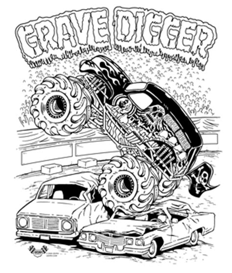 pages for kids printable monster truck coloring pages