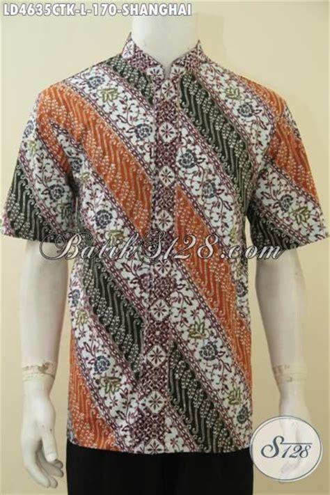 Kemeja Wanita Motif Bunga 128 baju batik trendy model kerah shanghai motif parang bunga