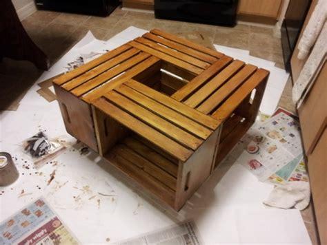 mensole brico center diy fabriquer une table basse en utilisant des caisses