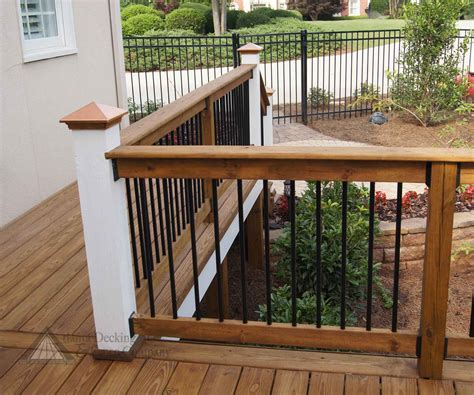 decking banister fresh best wood deck railing designs diy 17885