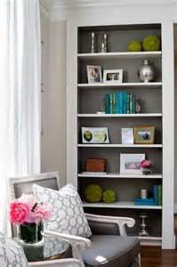 How To Paint Built In Bookshelves Gray Bookcase Design Decor Photos Pictures Ideas