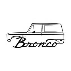 1966 1977 ford bronco side black with logo ford bronco