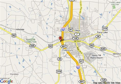 map of i 75 in with exits map of inn tifton i 75 exit 62 tifton