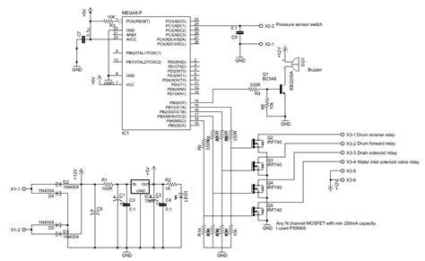 100 circuit diagram washing machine motor controller