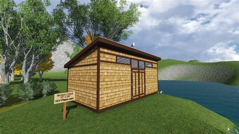 contemporary shed plans diy modern shed