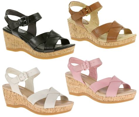 Wedges Hush Puppies Ori 9 womens hush puppies farris wedge heel ankle sandals sizes 3 to 9 ebay
