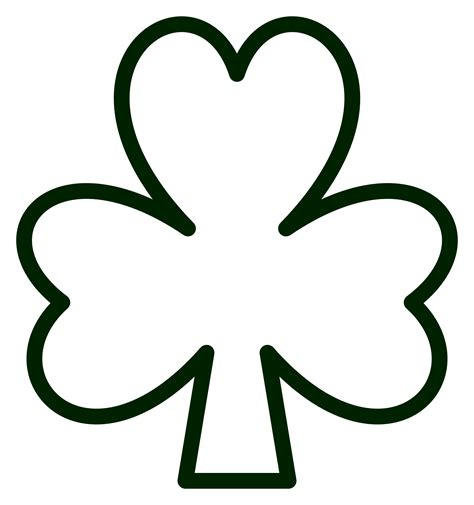 187 Saint Pattys Day Shamrock Black White Line Flower Art Shamrock Coloring Page