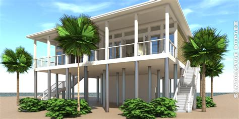 duplex beach house plans sandcastle duplex plan tyree house plans