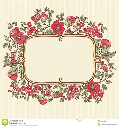 imagenes tarjetas retro vector la tarjeta de felicitaci 243 n del vintage con un ramo