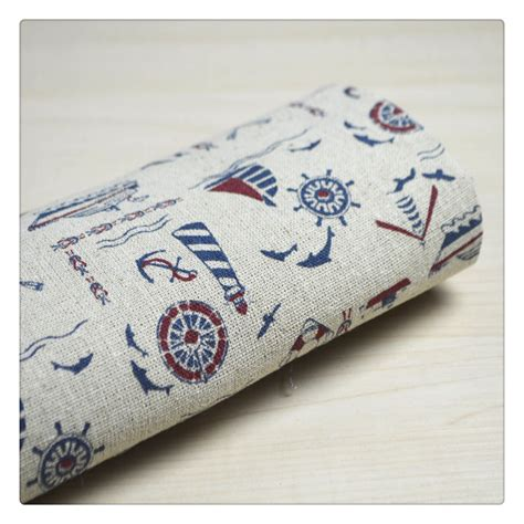 50x150cm navy sea boat cotton fabric cloth diy handmade