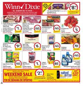 Weekly ad valid march 2 8 2016 save with this week winn dixie ad