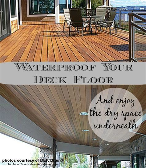 Waterproof Deck Ceiling by Deck Waterproofing Deck Drainage Waterproof Deck