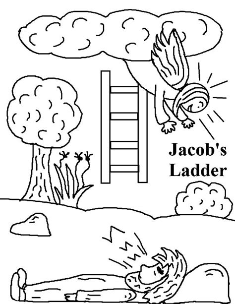 free bible coloring pages jacob s ladder free esau bible story coloring pages