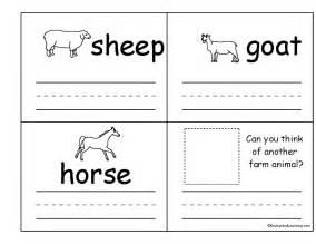 11 best images of animals worksheets for kindergarten art