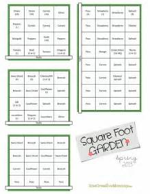 square foot garden plans for onecreativemommy