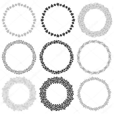 cornici rotonde set di cornici rotonde con fiori elementi decorativi per