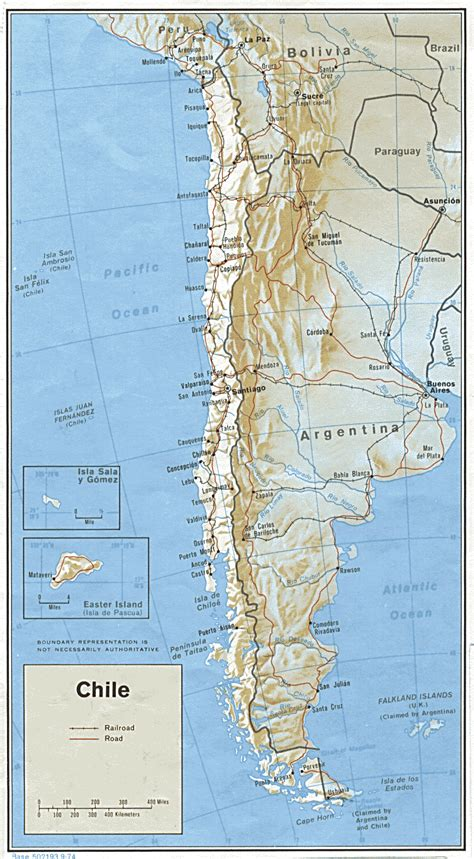 political map of chile large detailed political and administrative map of chile