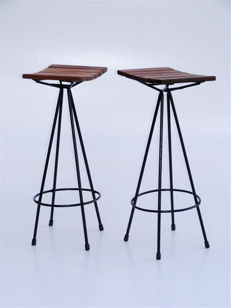 Metal Footrest For Bar Stools by Furniture Rectangle Wooden Bar Stools With Blue