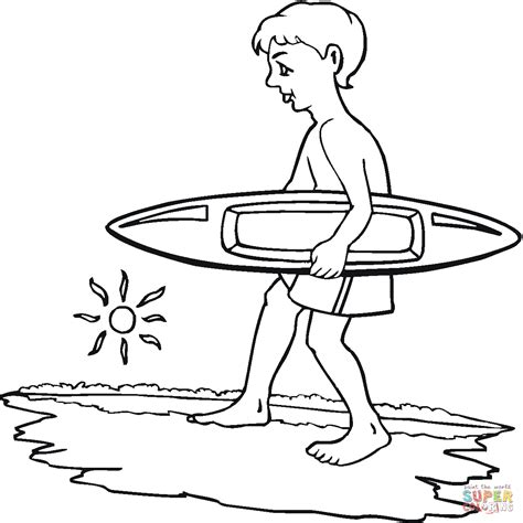 coloring pages surfer girl boy surfer coloring page free printable coloring pages