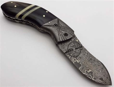 Handcrafted Pocket Knives - custom handmade damascus steel knife best pocket knife
