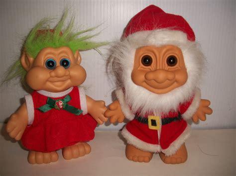 christmas elf dolls memes troll russ berrie collectible 7 quot christmas santa claus