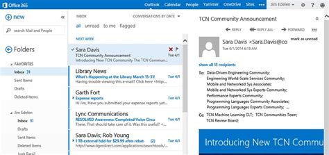 New Features For Microsoft Outlook Web App In Office 365