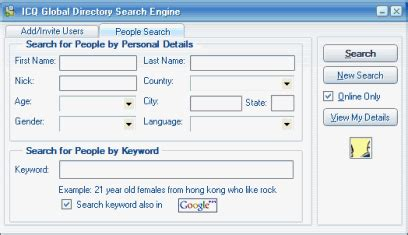 Icq Search Directory Icq Help Managing Your Contact List работа с контактным