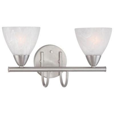 bathroom light fixture home depot thomas lighting tia 2 light matte nickel bath fixture
