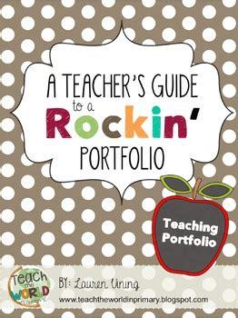 Teacher Portfolio By Teach The World Teachers Pay Teachers Teaching Portfolio Template Free