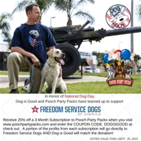 service dogs of america veteran owned businesses is 174 and pooch packs launch a fundraiser to