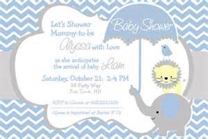 elephant baby shower invitation boy by asyouwishcreations4u