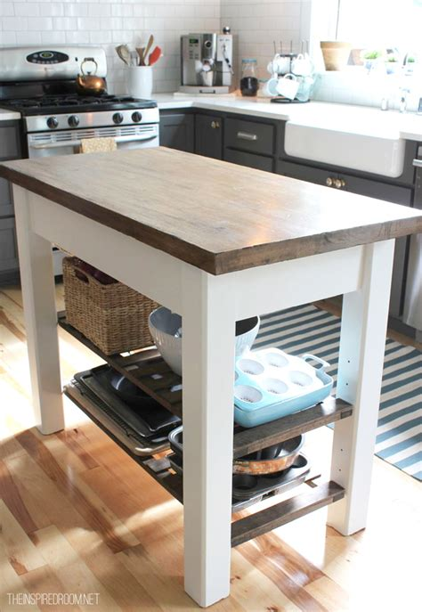 Diy Kitchen Island Ideas Diy Kitchen Island From New Unfinished Furniture To Antique The Inspired Room
