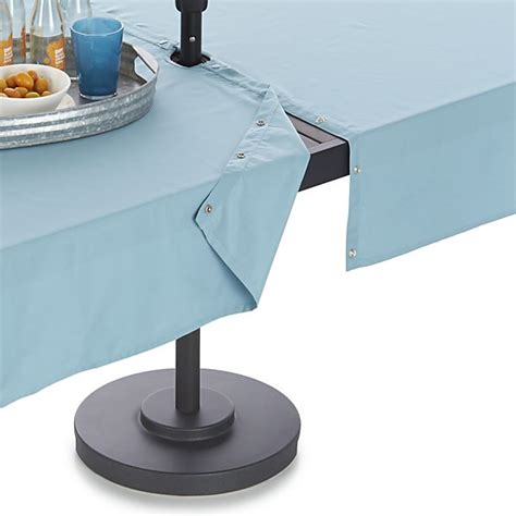 mineral blue umbrella tablecloth crate and barrel