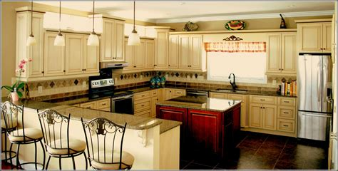 Blue Countertop Kitchen Ideas off white antiqued kitchen cabinets home design ideas