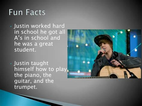 justin bieber biography ppt ppt biography of justin bieber powerpoint presentation