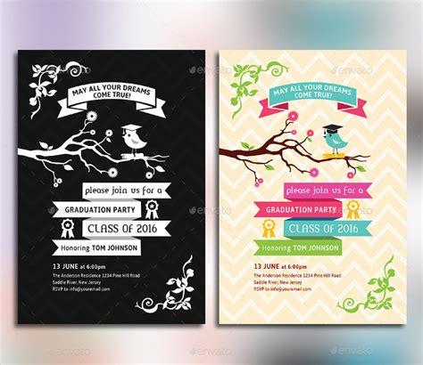 graduation celebration card design templates 42 invitations free psd vector ai eps format