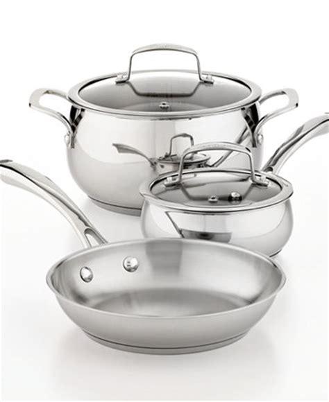 belgique stainless steel 5 piece cookware set cookware kitchen macy s