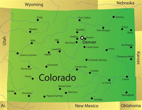 colorado map with cities colorado map blank political colorado map with cities